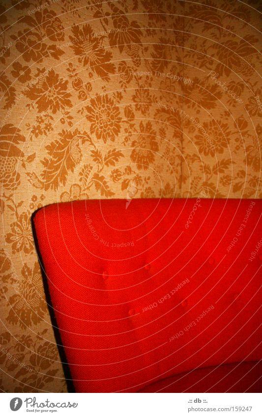 .:: oma style ::. rot Stil Raum retro Tapete Sessel Schlafzimmer