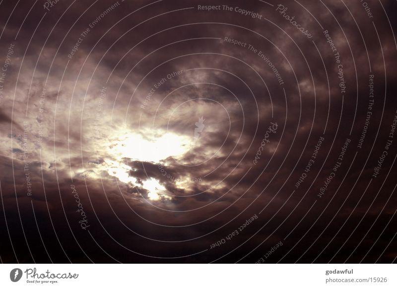 abendhimmel 3 Wolken Sonnenuntergang Abenddämmerung Himmel Kontrast