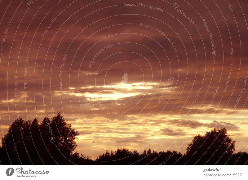 abendhimmel 4 Wolken Sonnenuntergang Horizont Abenddämmerung Himmel