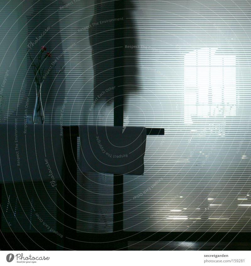 [HB 09.1] still leben in bremen. Mysterium Geister u. Gespenster Vorhang unheimlich Schatten rückwärts Tisch Stillleben Vase ruhig Mantel hängen sanft Licht