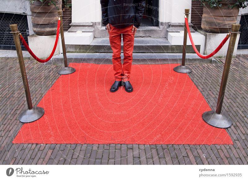 Im Empfangsbereich Mensch Jugendliche Junger Mann Leben Lifestyle Platz Beratung Reichtum Teppich