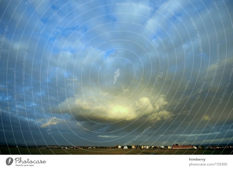 gewitter oma Himmel Wolken Landschaft Wetter groß Dorf Gewitter Wetterumschwung