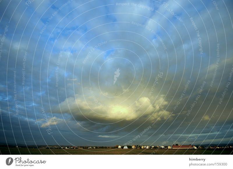 gewitter oma Wolken Wetter Gewitter Wetterumschwung Landschaft Panorama (Aussicht) Himmel Dorf groß