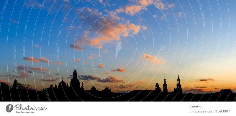 Dresden III Ferien & Urlaub & Reisen Tourismus Sightseeing Städtereise Himmel Wolken Sonne Schönes Wetter Deutschland Europa Stadt Stadtzentrum Altstadt Skyline