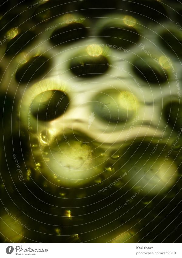 unidentifizierbares. foto. objekt. grün Farbe dunkel Architektur Stein träumen Farbstoff Kunst Glas modern verrückt Streifen rund Dekoration & Verzierung