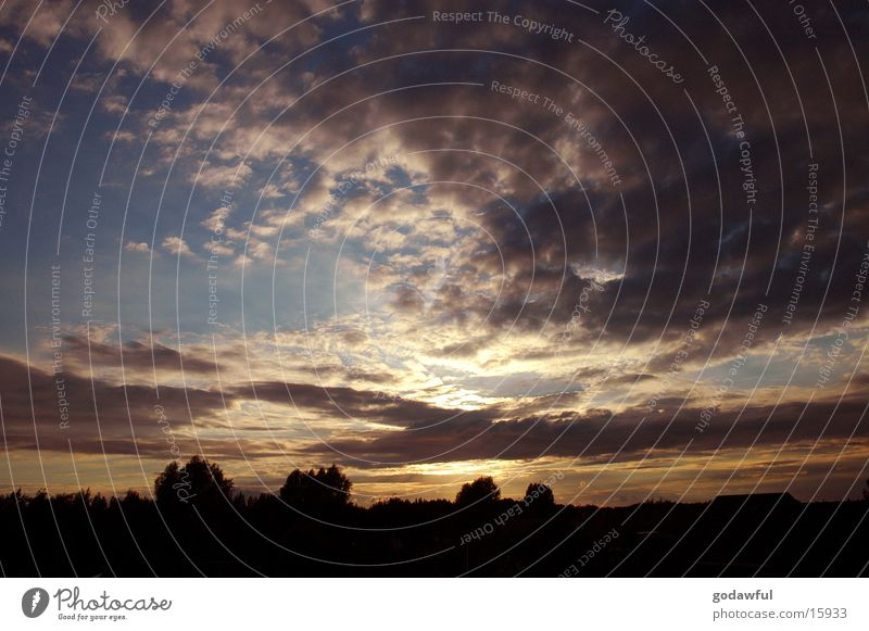 abendhimmel 3 Himmel Wolken Abenddämmerung