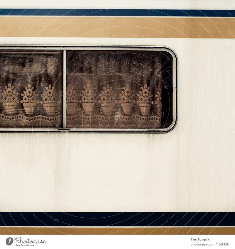 Sweet Home Caravan Ferien & Urlaub & Reisen Fenster Freizeit & Hobby Häusliches Leben Mobilität Camping Vorhang gemütlich Gardine Spitze Deutsch Wohnmobil