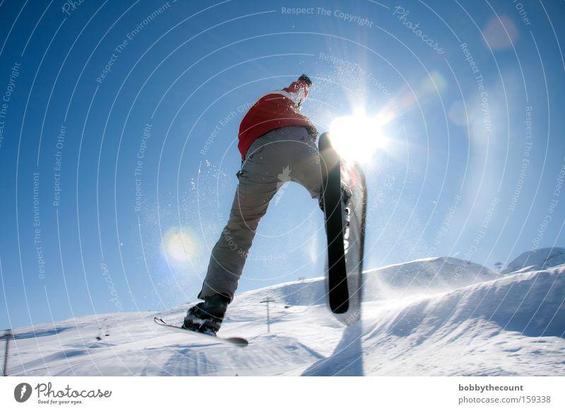 the harder you try... 360° Sonne Freude Winter Schnee springen Skifahren Ecke Frankreich Sport anstrengen Freestyle Wintersport Drehung