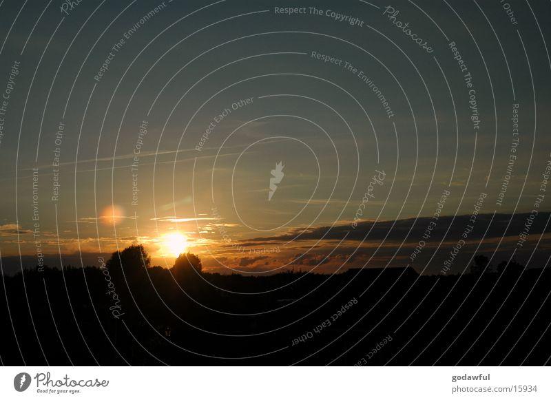 abendhimmel 2 Himmel Sonne Wolken Abenddämmerung Blendenfleck