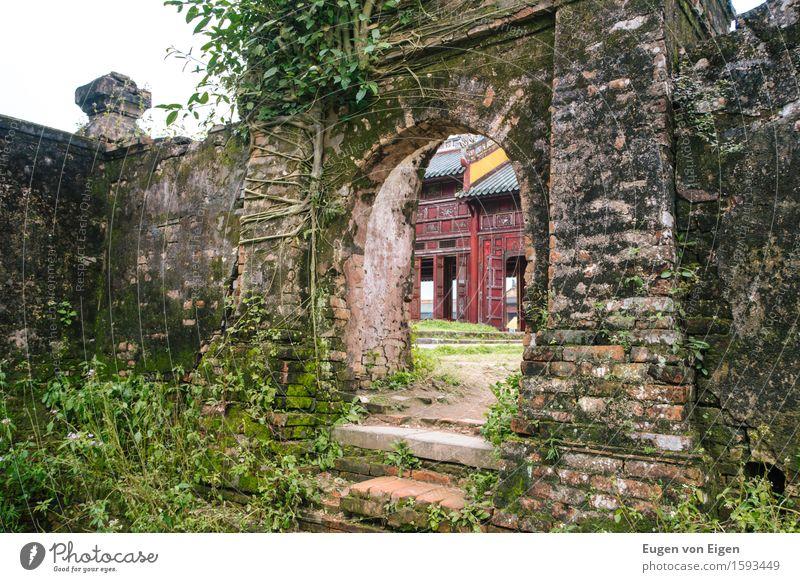 Tor in der Kaiserstadt von Hue (Vietnam) alt Ferne kalt Architektur Gebäude Kunst Freiheit Kultur Vergänglichkeit Abenteuer Wandel & Veränderung Macht
