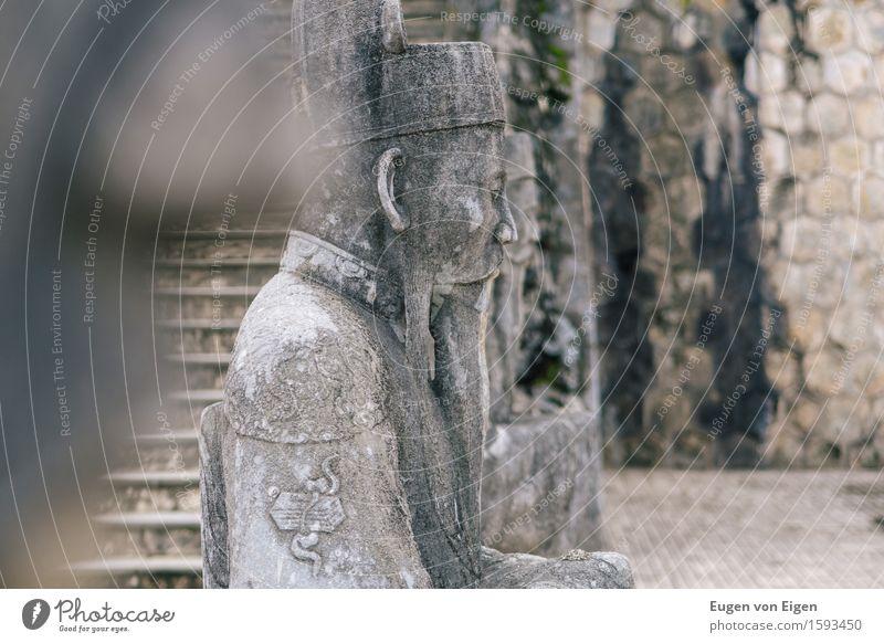Mandarine Statue im Kaisergrab von Hue (Vietnam) Ferien & Urlaub & Reisen Tourismus Ausflug Abenteuer Ferne Freiheit Sightseeing Expedition Kunst Skulptur