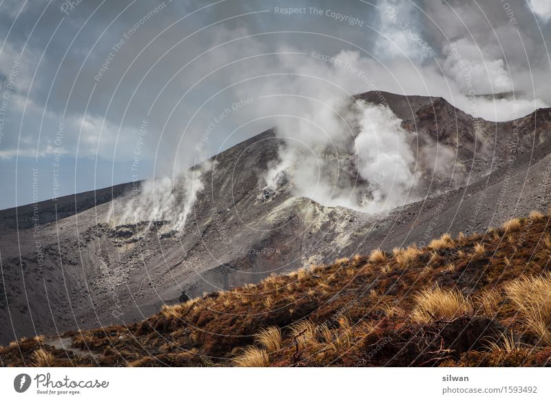 Mordor - Vulkan Neuseeland Mensch Natur Ferien & Urlaub & Reisen alt Landschaft Berge u. Gebirge kalt Erwachsene Wärme Frühling Freiheit Felsen Tourismus