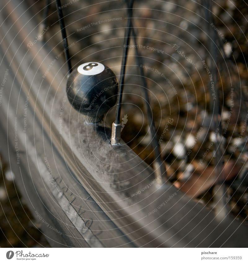 Eightball Spielen Freizeit & Hobby Fahrrad Ziffern & Zahlen Rad Reifen 8 Billard Reifenpanne Ventil Billardkugel