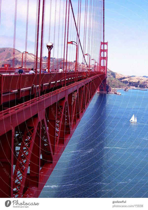 Golden Gate Bridge Stahl Brücke USA San Fransisco Architektur