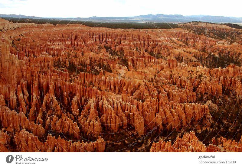 Bryce Schlucht Sandstein Weitwinkel Berge u. Gebirge USA Bryce Canyon Bergland