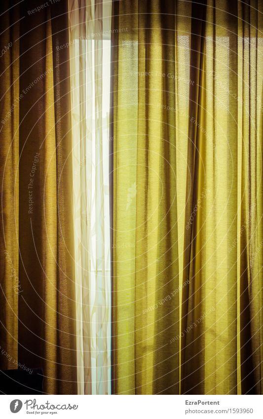 Vorhang auf - 700 - Vorhang zu Häusliches Leben Wohnung Innenarchitektur Dekoration & Verzierung Fenster grün Gardine Schutz Farbfoto Innenaufnahme