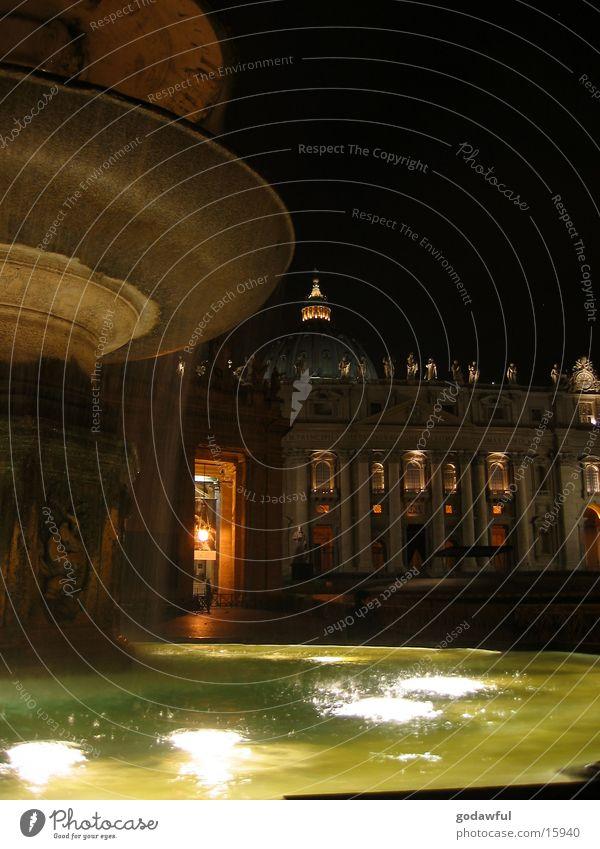 petersdom Petersdom Wasserfontäne Vatikan Springbrunnen Europa Religion & Glaube Dom