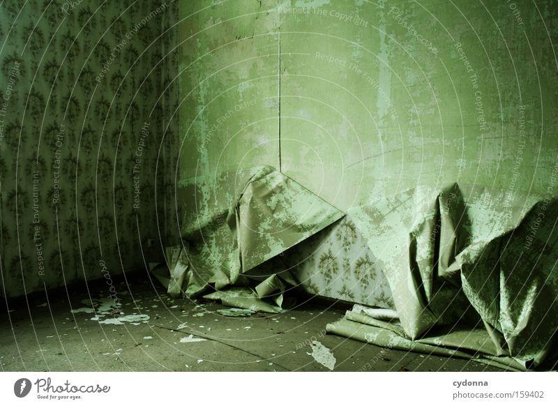 Hängen lassen Raum Örtlichkeit Verfall Leerstand Vergänglichkeit Zeit Leben Erinnerung Tapete Zerstörung alt Militärgebäude schön ästhetisch Muster Müdigkeit
