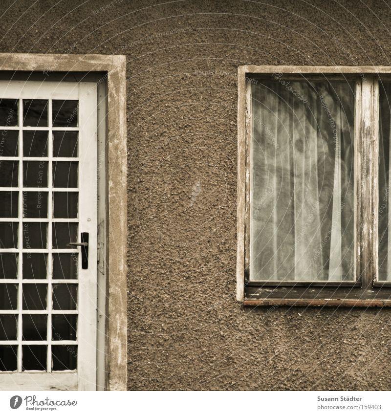 damals... alt Haus Fenster Gebäude Tür Wohnung Fassade Autotür historisch Vergangenheit Denkmal Griff Buchenwald