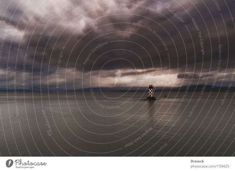 covered lighthouse Wasser Himmel Meer Wolken See Wetter Fluss Sturm Gewitter Leuchtturm Bach Schottland bedeckt