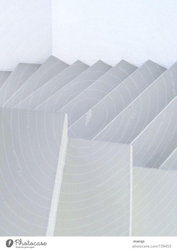 Upside Down weiß Stil Wege & Pfade Gebäude Architektur Design elegant Treppe ästhetisch Sauberkeit Grafik u. Illustration aufsteigen Treppenhaus sehr wenige