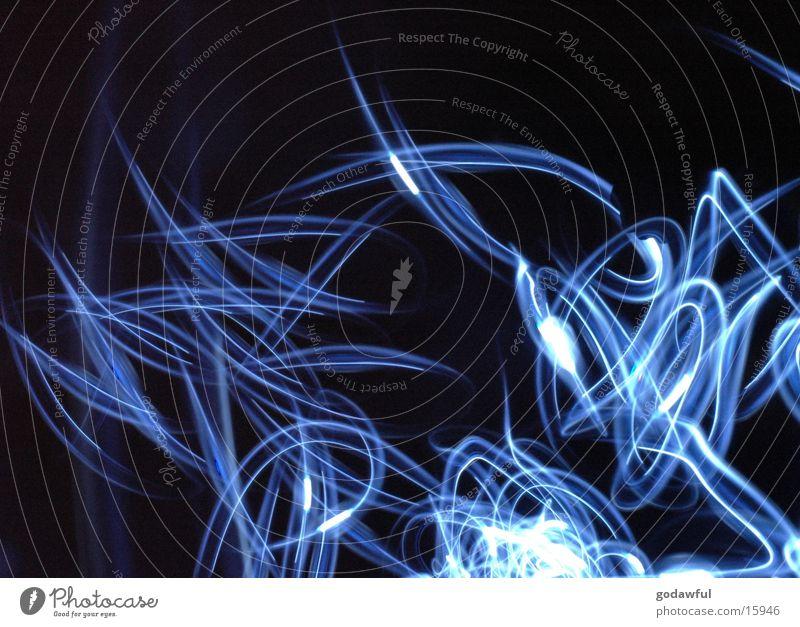 quallen Langzeitbelichtung Licht Qualle Stil blau Reaktionen u. Effekte Beleuchtung Unschärfe