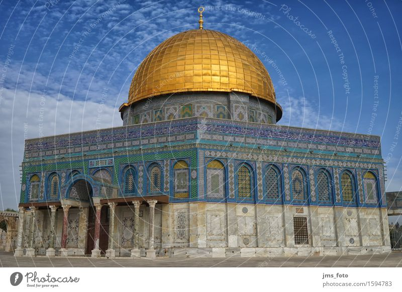 Felsendom Stadt Religion & Glaube Wahrzeichen Denkmal Hauptstadt Sehenswürdigkeit Kuppeldach Islam Israel Moschee Jerusalem