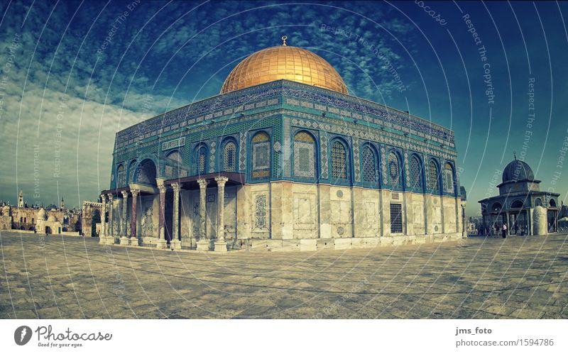 Felsendom Panorama Architektur Religion & Glaube Wahrzeichen Sehenswürdigkeit Kuppeldach Islam Moschee Jerusalem