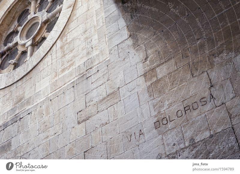 VIA DOLOROSA Christentum Jesus Christus Jerusalem Israel Mauer Wand Fassade Sehenswürdigkeit Wahrzeichen Denkmal Leidenschaft Tod Schmerz Erschöpfung schuldig