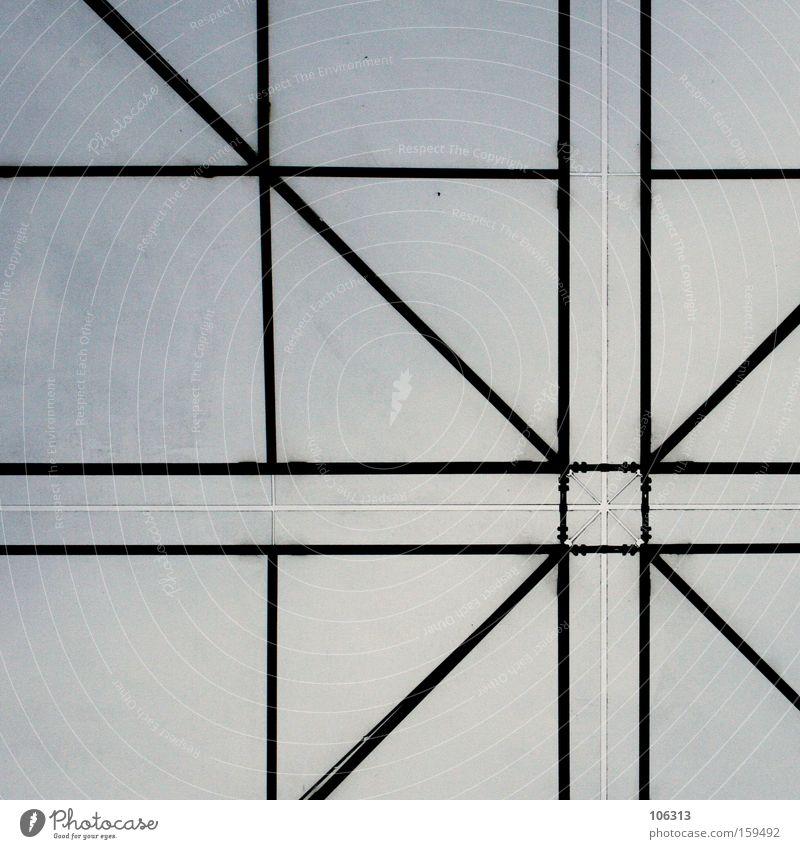 Fotonummer 114253 Himmel (Jenseits) Linie modern Ecke Dach graphisch Verbindung Konstruktion Quadrat vertikal Strebe Rechteck quer Achse Verstrebung