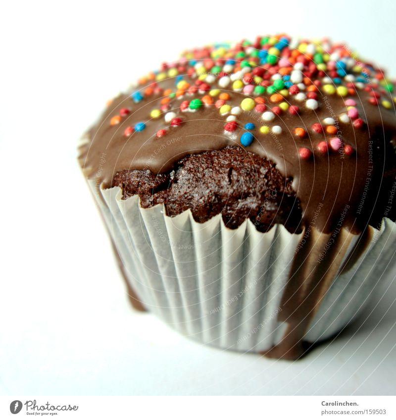 bunt bunt bunt. blau grün weiß rot gelb braun Süßwaren süß lecker Kuchen mehrfarbig Backwaren Schokolade Teigwaren ungesund Muffin