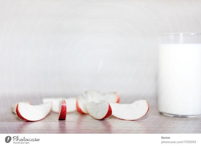gesundes Frühstück, kalorienarm weiß Gesunde Ernährung Essen Gesundheit Teile u. Stücke Apfel Vegetarische Ernährung Diät Fasten Kur Milcherzeugnisse Milchglas