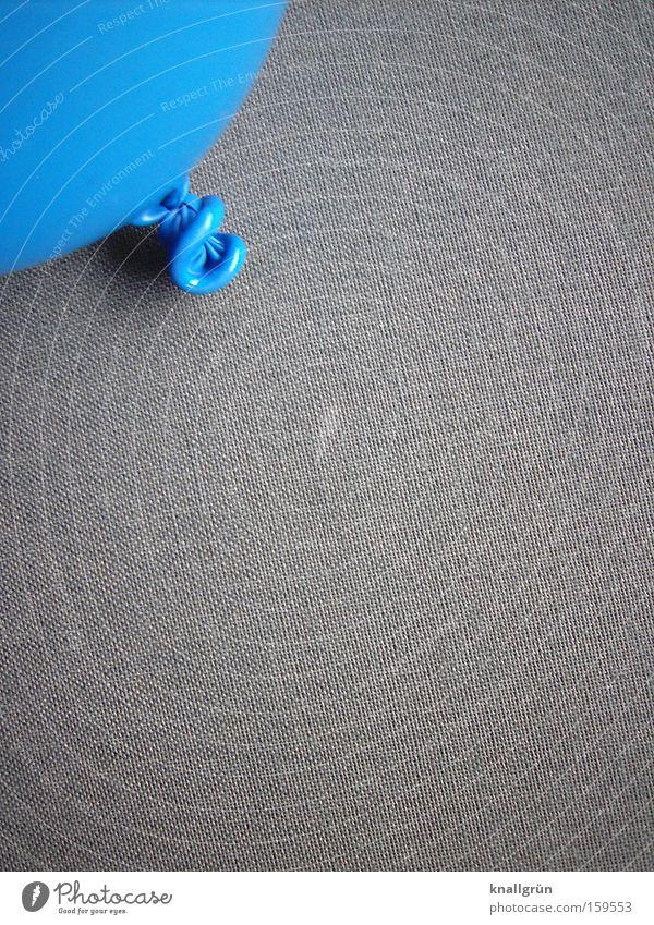Oben links Luftballon blau grau Knoten Dekoration & Verzierung obskur Zugebunden aufgeblasen
