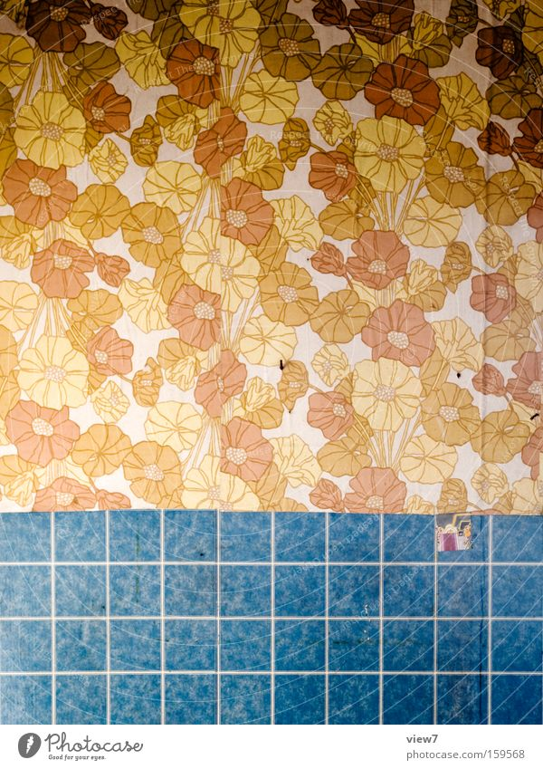 Blumenmeer Tapete gestalten Muster Wand Hintergrundbild Tapetenmuster Siebziger Jahre Achtziger Jahre DDR Dekoration & Verzierung Verfall Papier Bahn