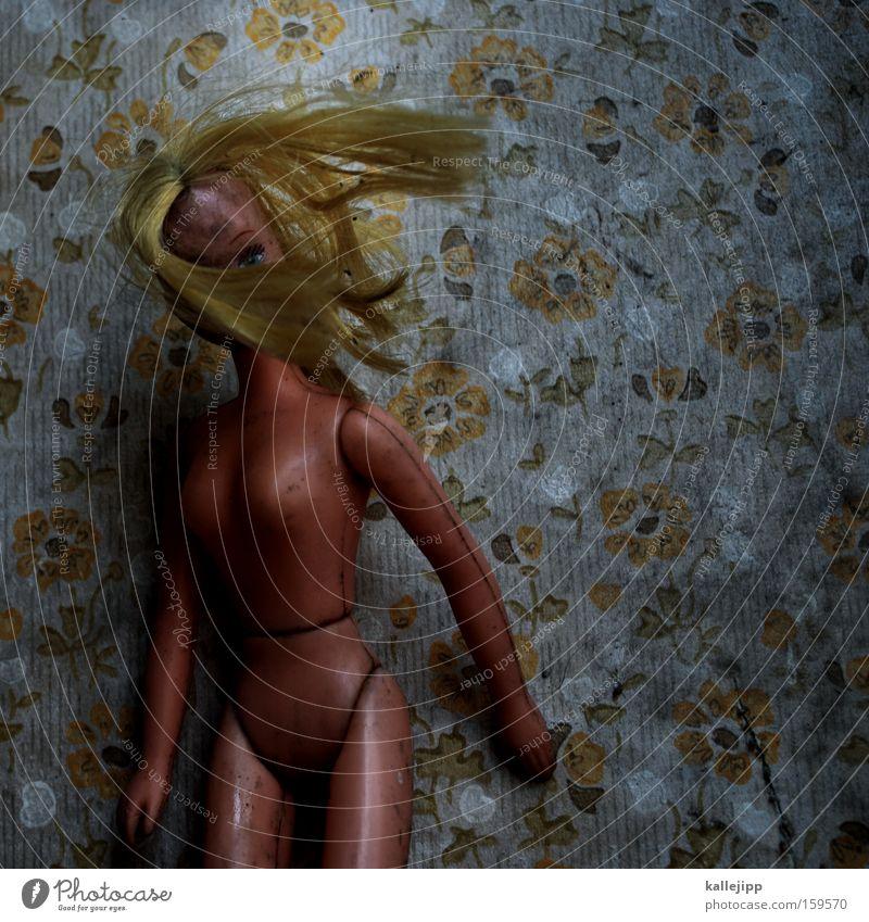 schüttel deinen speck Frau alt schön Blume nackt blond wild kaputt dünn Spielzeug Tapete Akt Puppe