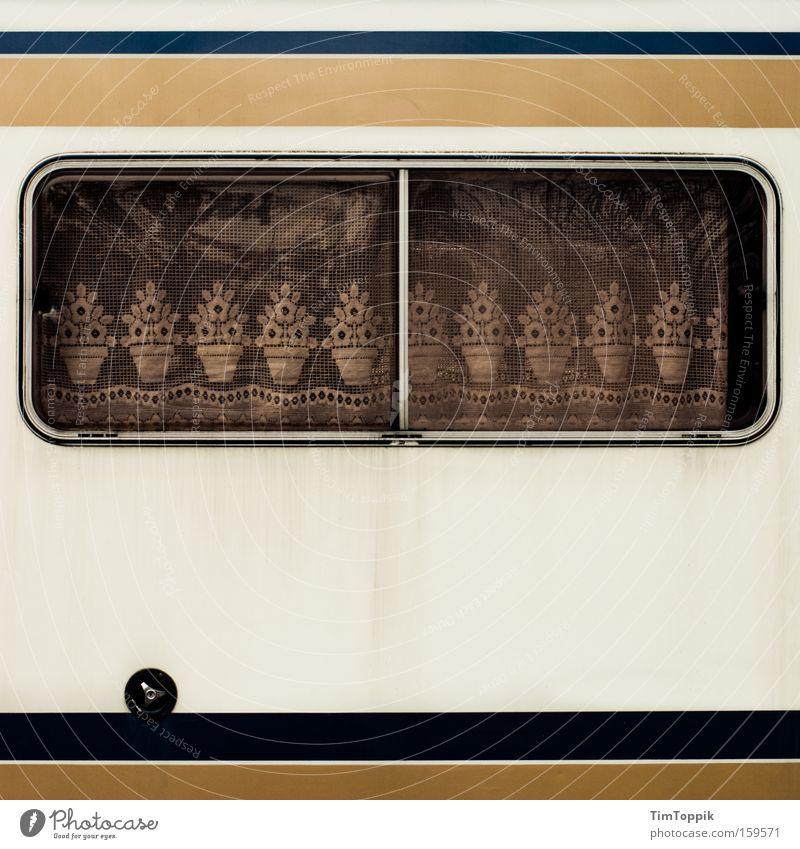 Sweet Home Caravan 2.0 Ferien & Urlaub & Reisen Fenster Häusliches Leben Mobilität Camping Vorhang gemütlich Gardine Spitze Deutsch Wohnmobil Wohnwagen Spießer