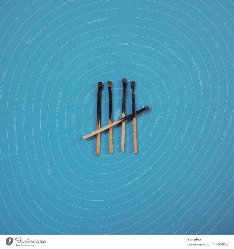 5-Jahres-Plan Wirtschaft Börse Business Streichholz blau Ordnungsliebe Traurigkeit Müdigkeit Kapitalwirtschaft planen Hintergrundbild Hintergrund neutral
