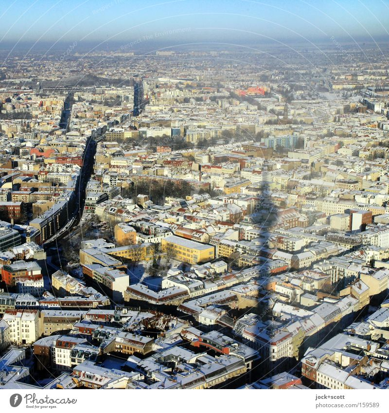 sei fernseher Berlin Himmel Stadt ruhig Winter Ferne kalt Freiheit oben Horizont Eis frei Perspektive hoch Aussicht Luftaufnahme