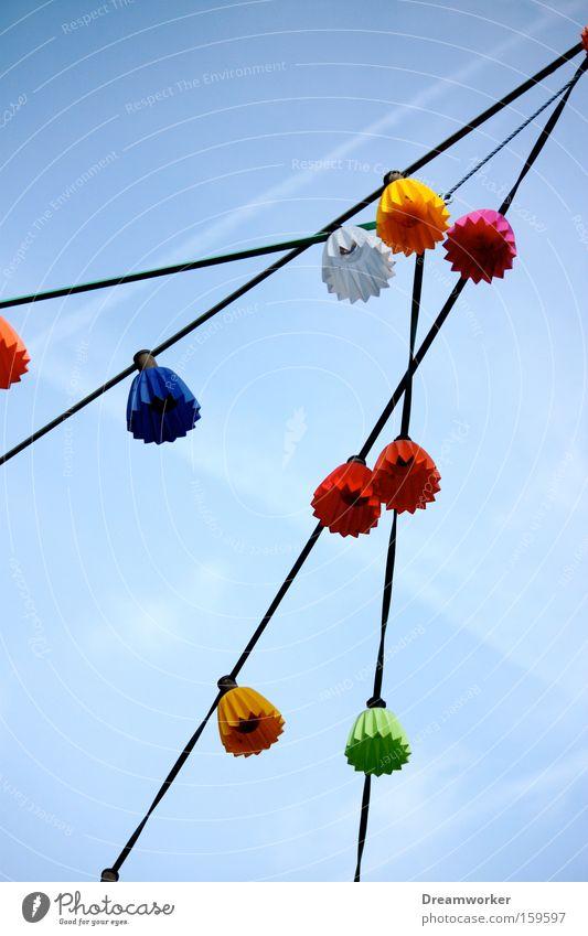 Der Frühling kann kommen Lampe Himmel Geburtstag Feste & Feiern Party Licht Laterne mehrfarbig Karneval Schönes Wetter Farbstoff Stimmung blau Schmuck