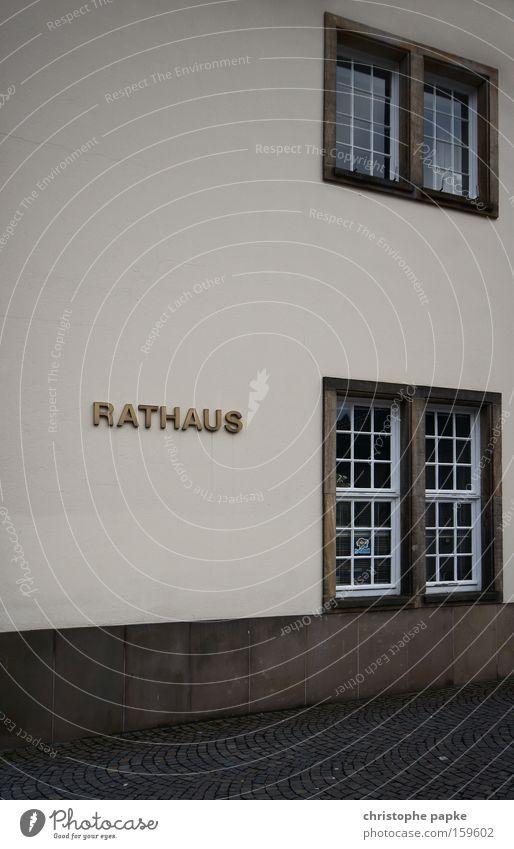 Guter Rat Detailaufnahme Rathaus Fassade Fenster Schilder & Markierungen gold Perspektive Empfehlung Wand Buchstaben Regierung Verwaltung Öffentlicher Dienst