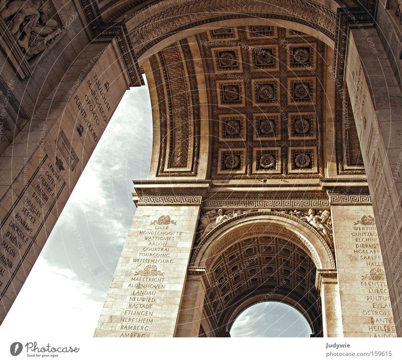 Pariser Wahrzeichen Nr. 2 alt Ferien & Urlaub & Reisen Sommer Ferne Architektur Gebäude Tourismus Bauwerk Tor Vergangenheit Denkmal historisch Frankreich