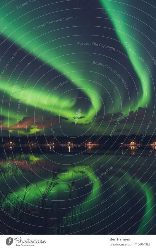 auroratracks.116 Himmel Natur Wolken Herbst Bewegung außergewöhnlich Horizont Sträucher geheimnisvoll Unendlichkeit Seeufer Straßenbeleuchtung Surrealismus