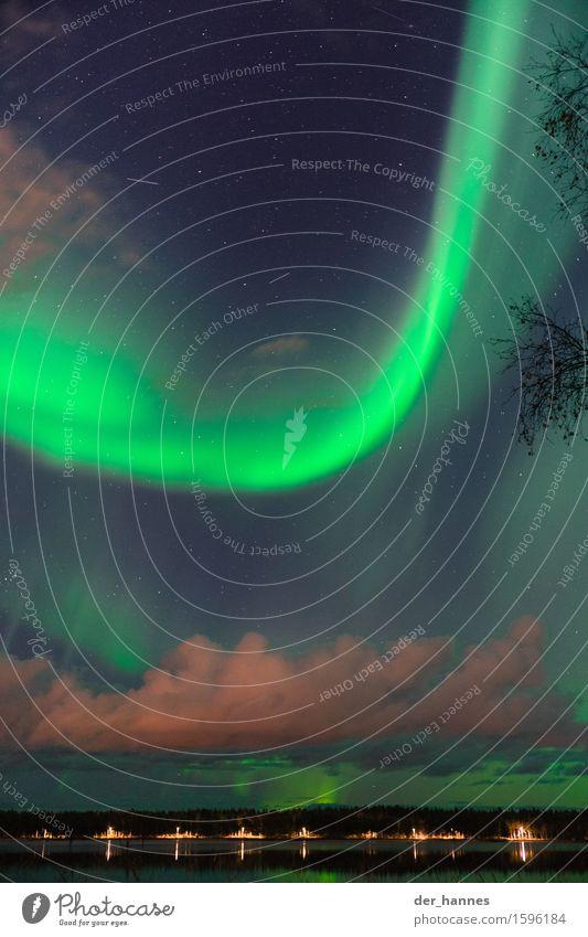 aurora.115 Himmel Natur Wolken Herbst außergewöhnlich Horizont ästhetisch Stern Straßenbeleuchtung Nachthimmel demütig Nordlicht