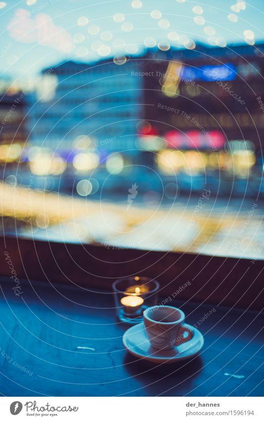 cup.118 blau Stil Glück Lebensmittel Getränk trinken Kerze Reichtum Espresso Kaffeetrinken Heißgetränk