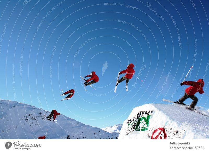 Kirschbaum battle Mensch Winter Berge u. Gebirge Schnee Sport Felsen springen maskulin Freizeit & Hobby Erfolg hoch Schönes Wetter Hügel Österreich Alpen