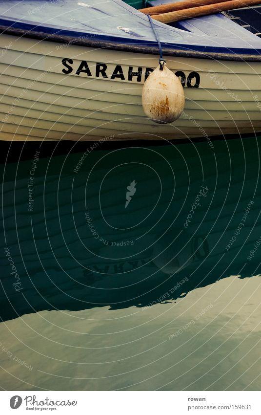 sarah das boot Meer ruhig Erholung Wasserfahrzeug See Ruderboot