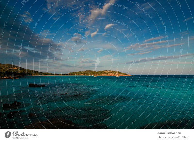 Schatzinsel_2 Wasser Himmel Meer grün Sommer Strand Ferien & Urlaub & Reisen Wolken Küste Insel Frankreich zyan Mittelmeer Korsika