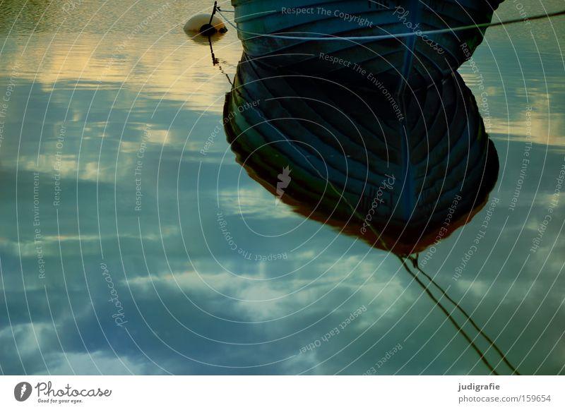 Hafen Wasser Himmel Strand ruhig Wolken Farbe Wasserfahrzeug Küste Seil Ostsee Darß Fischereiwirtschaft maritim Boje Fischerboot