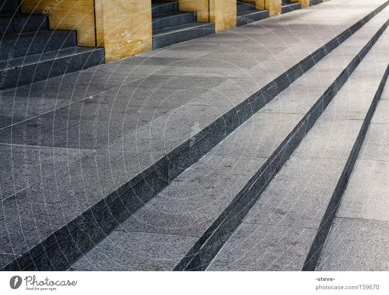 Diagonal Architektur Treppe eckig San Jose Ecke Geometrie Fächer diagonal Farbfoto Außenaufnahme Muster Strukturen & Formen Menschenleer