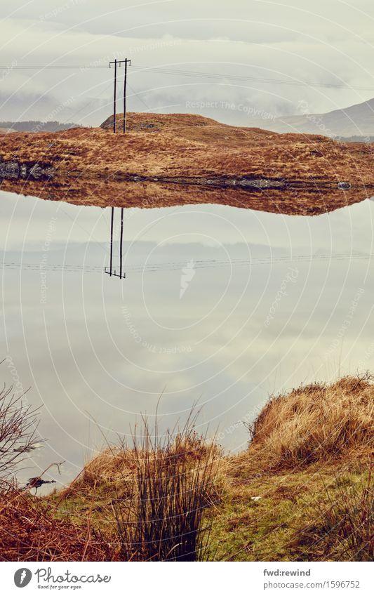Funkstille Natur Landschaft ruhig Umwelt Herbst Freiheit Ausflug Zufriedenheit Kommunizieren Idylle Telekommunikation Beginn Insel Zukunft warten Gold